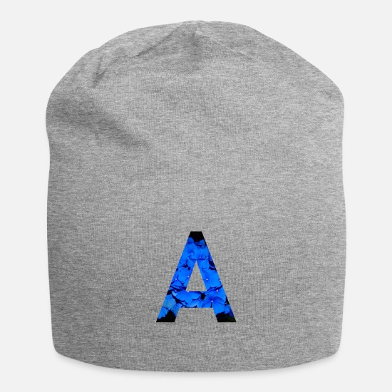 Typography Caps & Hats - Letter A - Beanie heather grey