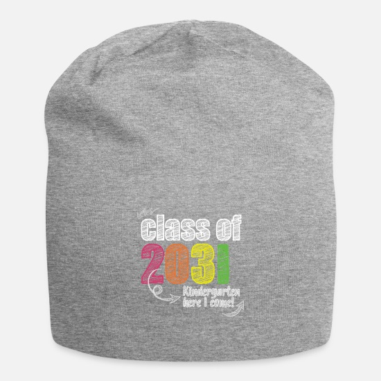 College Caps & Hats - Funny Class Of 2032 Shirt For Kindergarten Future - Beanie heather grey