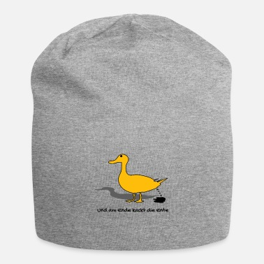Bird DUCK yellow poop funny saying - Beanie