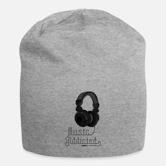 Rnb Caps & Hats - Music, Hip Hop, RnB, Rock, Gift, Gift Idea - Beanie heather grey