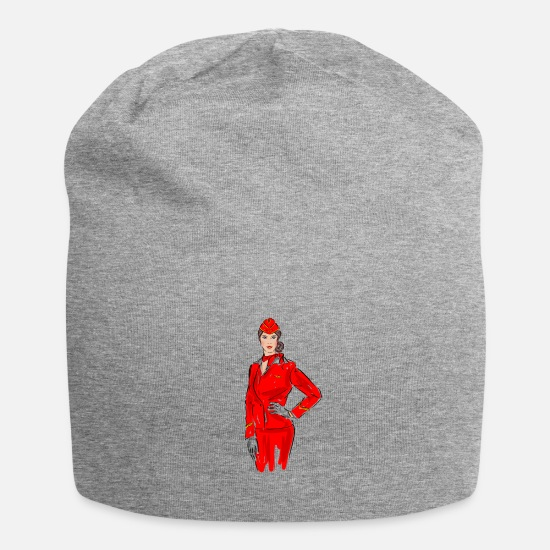 Birthday Caps & Hats - stewardess - Beanie heather grey