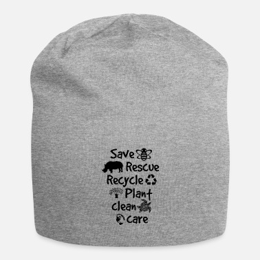 Animal Save Bees Rescue Animals Recycle Plastic Earth Day - Beanie