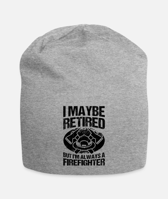 Grandpa Caps & Hats - Volunteer firefighter firefighter - Beanie heather grey