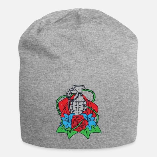 Flowers Caps & Hats - Bomb Flowers Hand Grenade Roses Flowers sex bomb - Beanie heather grey