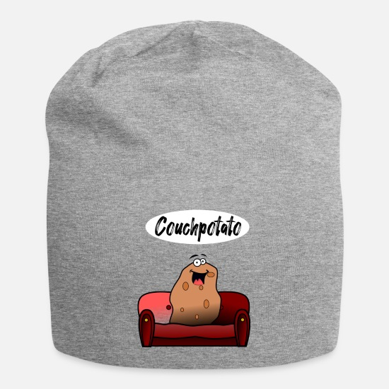 Couch Caps & Hats - couch Potato - Beanie heather grey