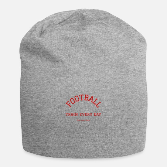 Rugby Caps & Hats - Football train every day - Beanie heather grey