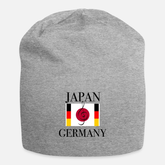 To Sing Caps & Hats - Japan Germany clef music student - Beanie heather grey