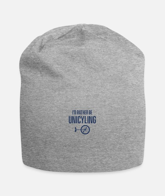 Unicycle Caps & Hats - Unicycle unicycle riding unicycles unicycling unicycle - Beanie heather grey