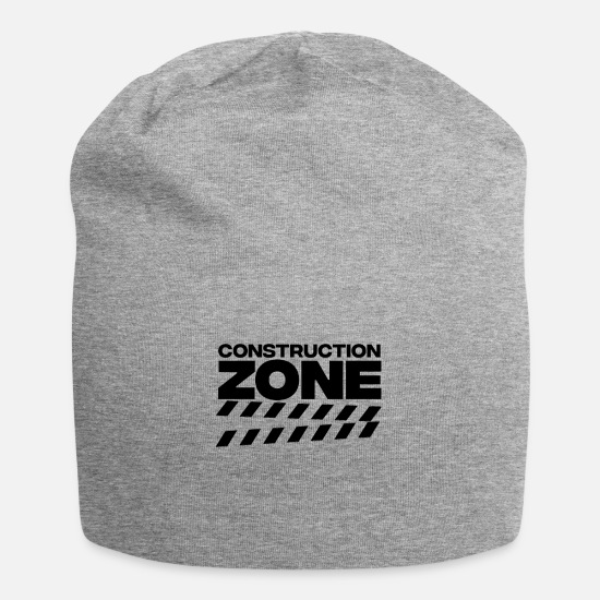 Construction Caps & Hats - Construction site construction construction worker construction worker excavator - Beanie heather grey