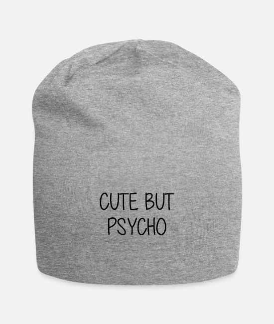 Psychotherapist Caps & Hats - Cute but Psycho - cute but crazy - mentally - Beanie heather grey