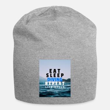 Ägypten EAT SLEEP DIVE REPEAT Tauchen Urlaub Strand Shirt - Beanie