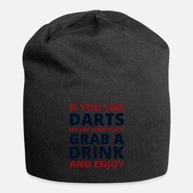 Shooting Darts Players Bullseye Target Shooting Sport Drink - Beanie