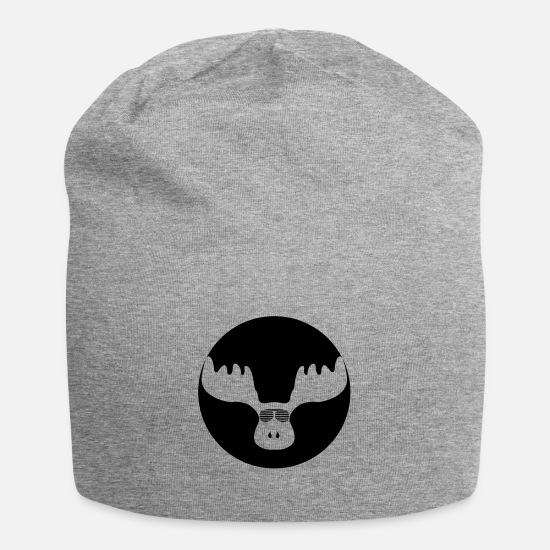 Stag Caps & Hats - cool moose 1 - Beanie heather grey
