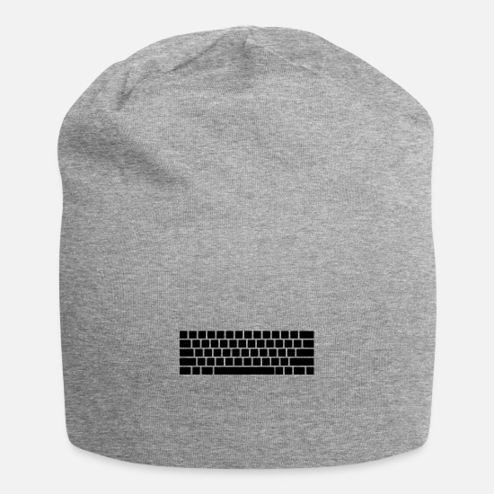Modern Caps & Hats - Modern keyboard - Beanie heather grey