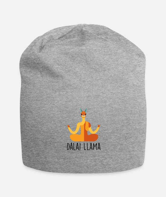 Funny Pictures Caps & Hats - Dalai llama - Beanie heather grey