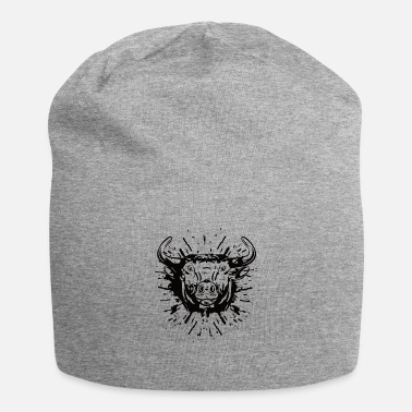Bull cow ssplash black white - Beanie