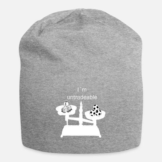 Gift Idea Caps & Hats - Football love for football clubs united. Gift! - Beanie heather grey