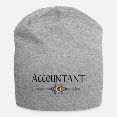 Euro Accountant Decorative Line Euro - Beanie
