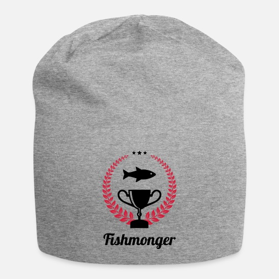 Boss Caps & Hats - Fishmonger / Fischhändler / Fish / Poissonnier - Beanie heather grey