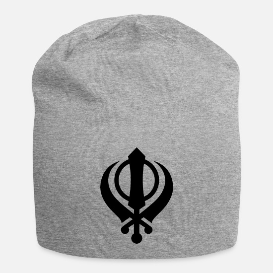 Sikh Caps & Hats - khanda sikh symbol India - Beanie heather grey