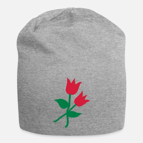 Red Caps & Hats - tulips - Beanie heather grey