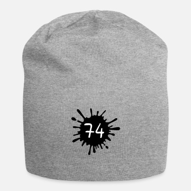 Paintball Farbklecks Birthday 74__zahl_klecks__f2 - Beanie