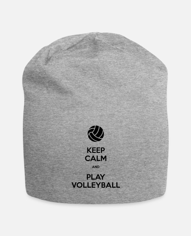 Keep Calm Caps & Hats - Keep Calm And Play Volleyball - Beanie heather grey