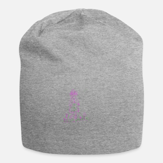 Pink Caps & Hats - Facial expression girl - Beanie heather grey