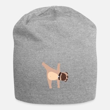 Male Puppy Dog Puppy Yoga dog pug puppy dog - Beanie