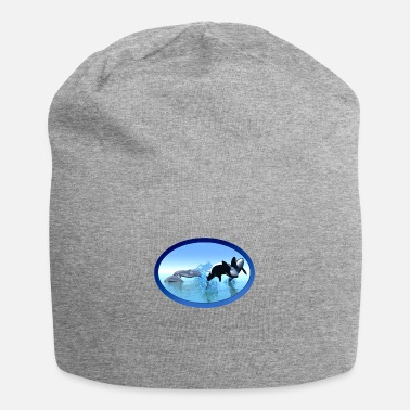 Breaching Dolphins and Orca's - Beanie