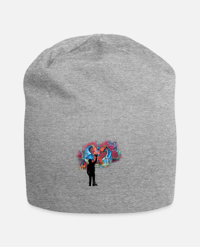 Drawing Caps & Hats - graffiti is art - Beanie heather grey