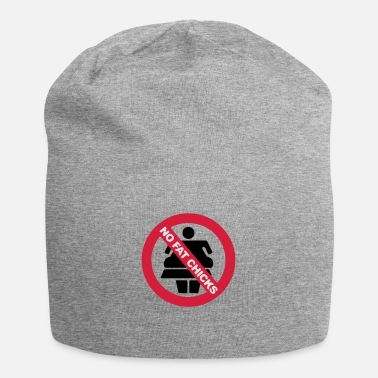 NO FAT CHICKS BUTTON - Beanie