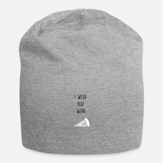 Love Caps & Hats - I wish you were pizza - Beanie heather grey