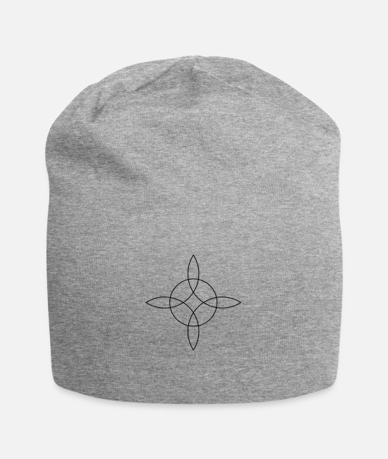Sorcery Amulet Talisman Caps & Hats - Witch`s Knot, Binds the 4 elements, Magical symbol - Beanie heather grey