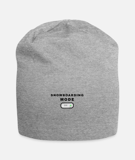 Mood Caps & Hats - Snowboard mode on mode on - Beanie heather grey