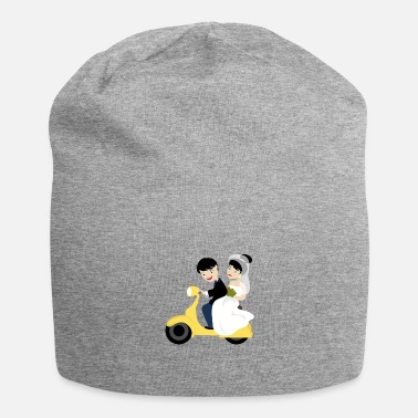 Wedding Couple Wedding marriage couple moped - Beanie