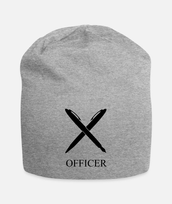 Office Caps & Hats - OFFICER - Beanie heather grey