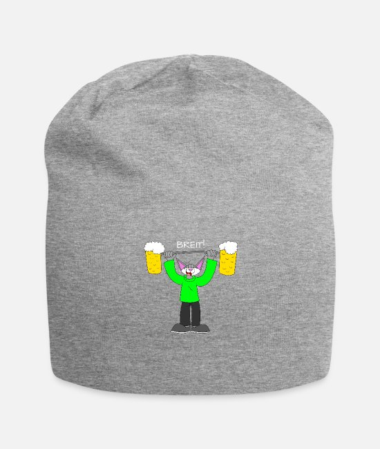 Alcoholic Caps & Hats - Wide! - Beanie heather grey