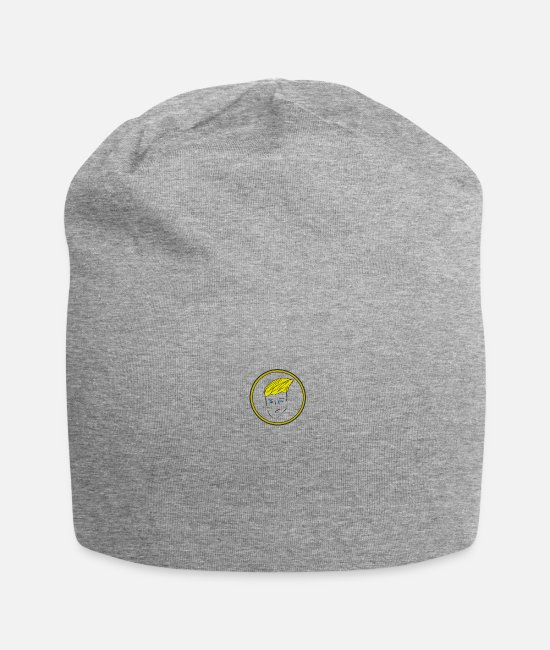 Party Caps & Hats - face - Beanie heather grey