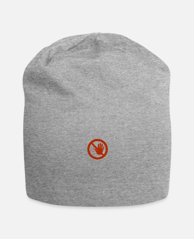 Careful Caps & Hats - Caution sign - Beanie heather grey