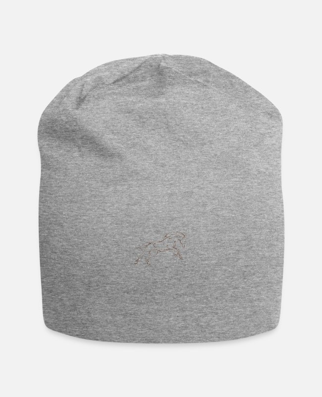 Dressage Horse Caps & Hats - stallion - Beanie heather grey