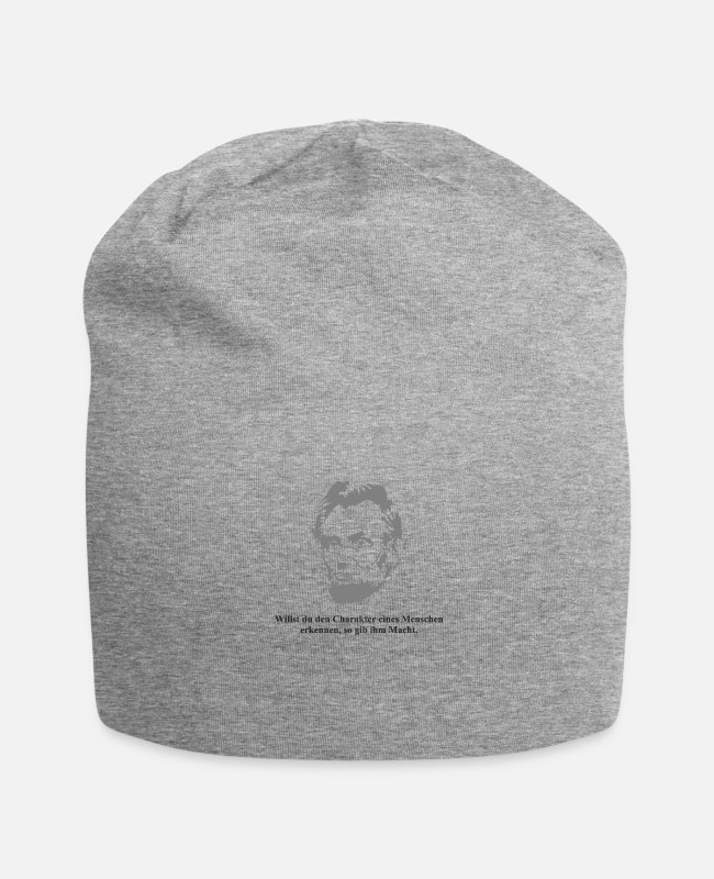 Usa Caps & Hats - Lincoln 1 black - Beanie heather grey