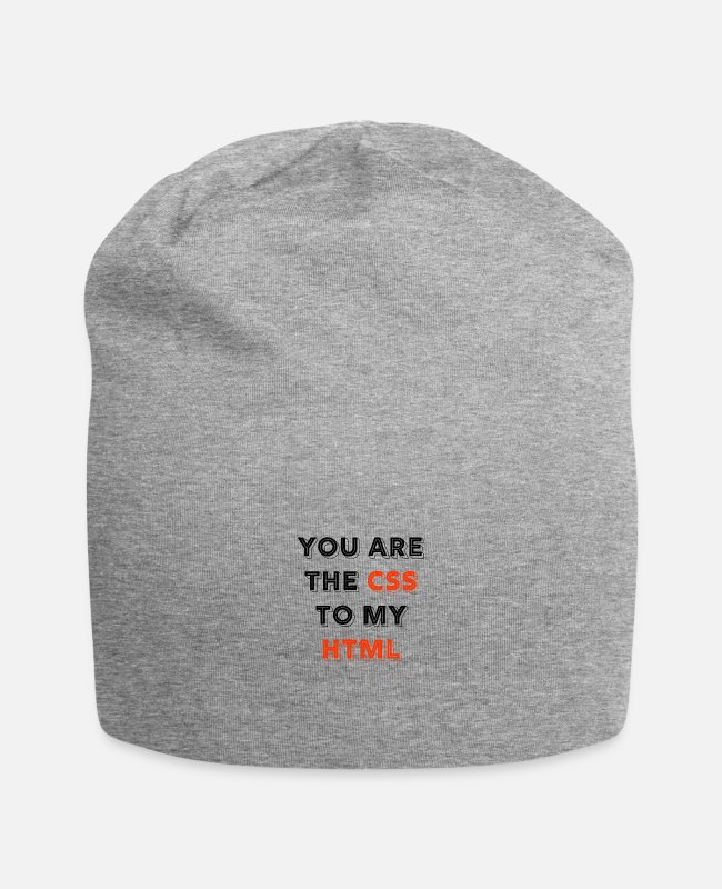 Coder Caps & Hats - You Are The CSS To My Html - web developer love - Beanie heather grey
