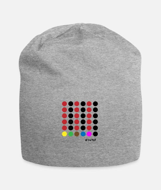 Cue Caps & Hats - Snooker # 147sf - Beanie heather grey