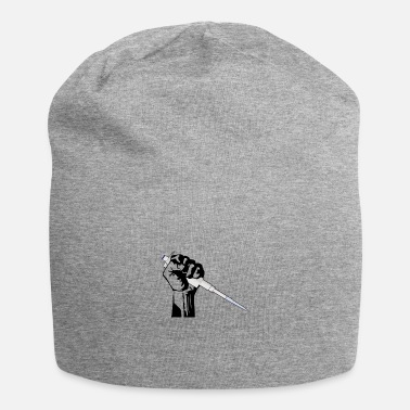 Poing ouvrier avec pipette - nerd science - Beanie