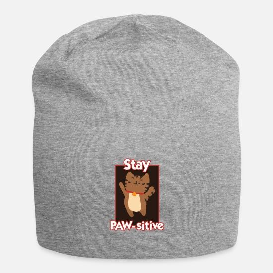 Fur Caps & Hats - Think Positive - Beanie heather grey