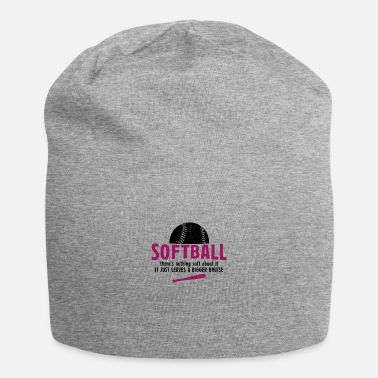 Ball Softball Theres Nothing Soft About Softball Gesche - Beanie