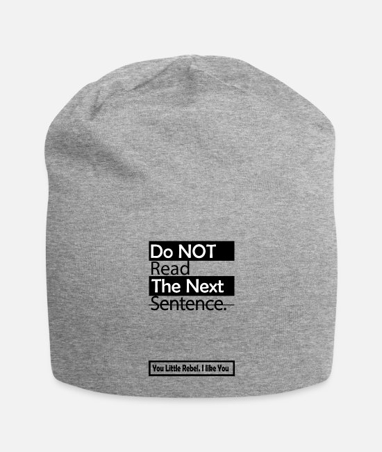 Christmas Caps & Hats - Funny - Funny - Saying - Funny saying - Beanie heather grey