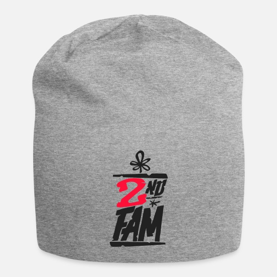Rap Caps & Hats - 2ND FAM - Beanie heather grey