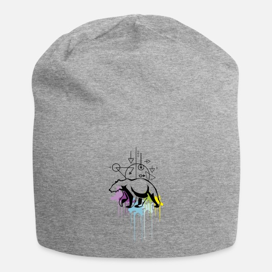 Animal Rights Activists Caps & Hats - ICEBAR - ART - Beanie heather grey